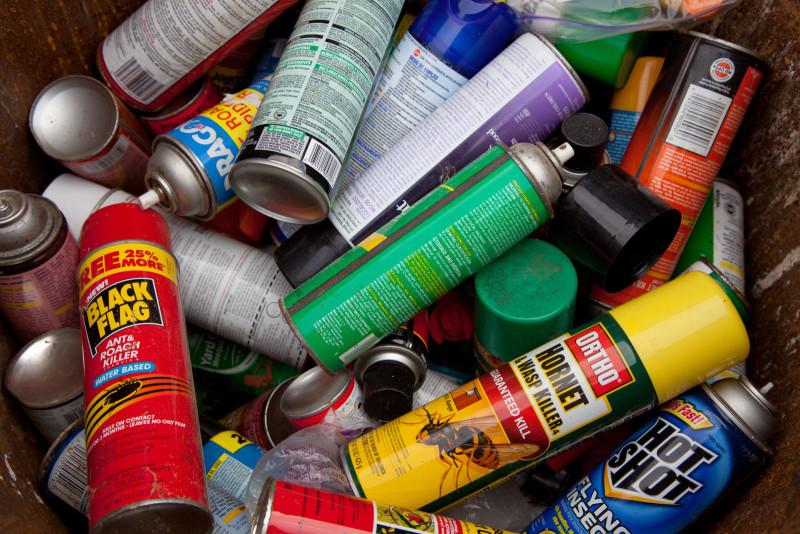 common VOC source aerosol cans